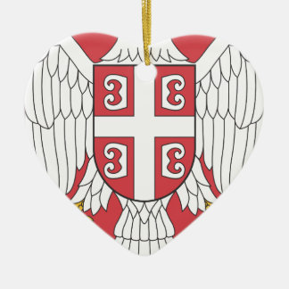 Arms_of_Serbia Keramik Herz-Ornament