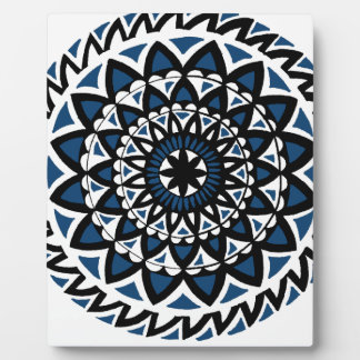 Arnabas blaue Mandala-Magie Fotoplatte