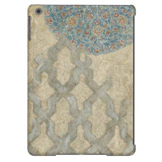 Arrangement floral argenté décoratif de tapisserie coque iPad air
