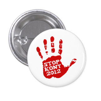Arrêt 2012 de Kony Handprint Joseph Kony Pin's Avec Agrafe