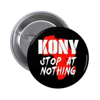 Arrêt de Kony à rien Badges Avec Agrafe