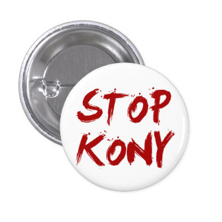 Arrêt Joseph sanglant rouge Kony de Kony 2012 Pin's Avec Agrafe