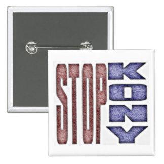 ARRÊT KONY - Les enfants crayonnent la conception  Badge