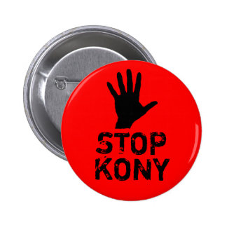 Arrêtez Kony Badge Rond 5 Cm