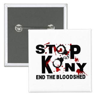 Arrêtez Kony. Finissez le carnage Badge Carré 5 Cm
