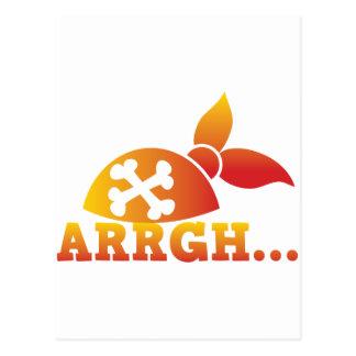 arrgh… PRATE Skorbut ich hearties Hut! Postkarte