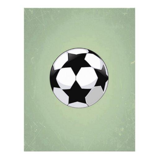 Arrière - plan de cru de ballon de football et de prospectus