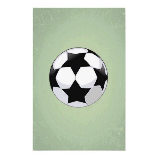 Arrière - plan de cru de ballon de football et de prospectus en couleur