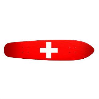 Arrière - plan Editable, le drapeau de la Suisse Plateaux De Skate