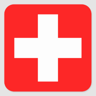Arrière - plan Editable, le drapeau de la Suisse Sticker Carré