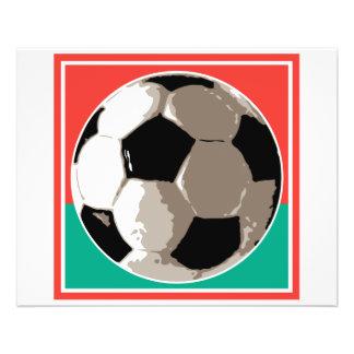 arrière - plan rouge et vert de ballon de football prospectus