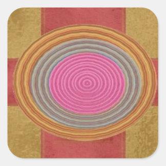 Art101 dekorative GiftPack Dekorationen Quadratischer Aufkleber