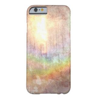 art abstrait d'effet grunge ensoleillé coque iPhone 6 barely there