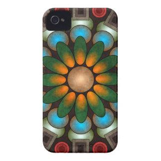 Art abstrait floral mignon Blackberry de vecteur Coque Case-Mate iPhone 4