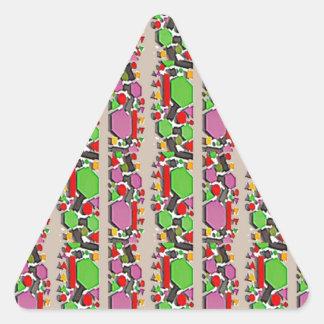 Art ABSTRAIT lunatique : Motif artistique simple Sticker Triangulaire