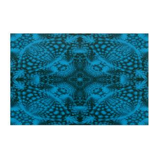 Art acrylique de mur de kaléidoscope noir et bleu