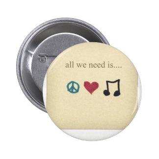 art-cute-inspirational-love-music-Favim.com - 1890 Runder Button 5,7 Cm
