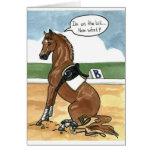 Art de cheval SUR LE PEU maintenant ce qui Carte De Vœux