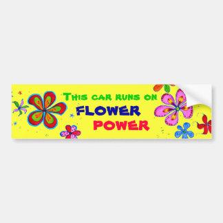 Art de flower power, adhésif pour pare-chocs autocollant de voiture