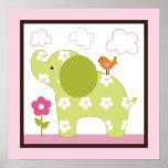 Art de mur d'affiche/impression de /Elephant de fi