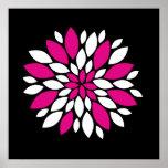 Art de pétales de fleur de rose indien et blanche  posters