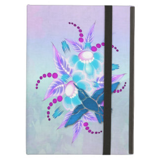 Art déco floral de colibri