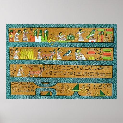 Art égyptien de mur poster