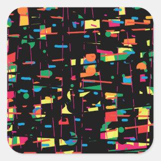 Art espiègle coloré sticker carré
