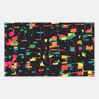 Art espiègle coloré sticker rectangulaire