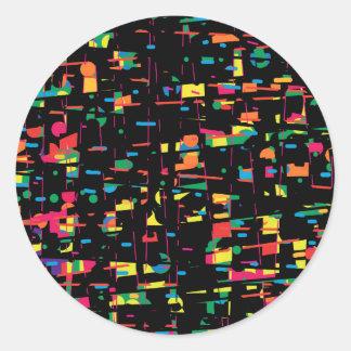 Art espiègle coloré sticker rond