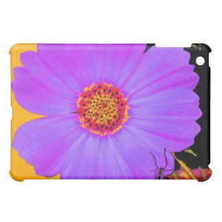 Art floral de fleur pourpre coques pour iPad mini
