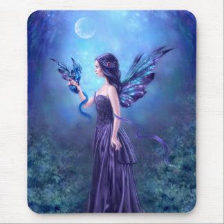 Art iridescent Mousepad de fée et de dragon Tapis De Souris