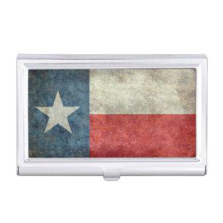 Art-Kartenhalter der Texas-Staatsflagge Vintager Visitenkarten Etui