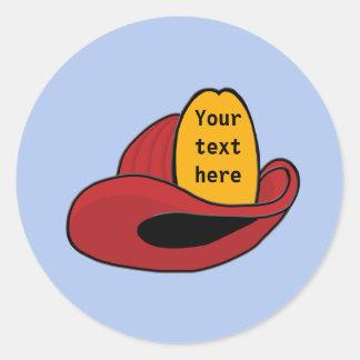 Art lunatique de bande dessinée du casque du autocollants ronds