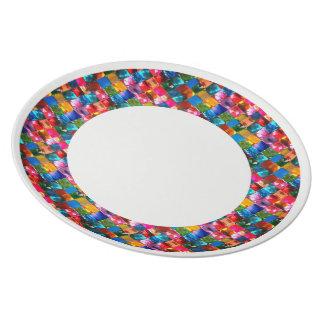 Art: Melamin-Platte perfekt für das Feiern eines s Melaminteller