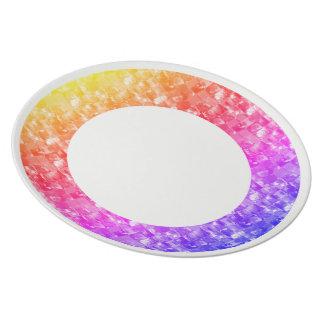 Art: Melamin-Platte perfekt für das Feiern eines s Teller