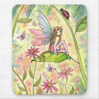 Art mignon de jardin d'agrément de fée et de cocci tapis de souris