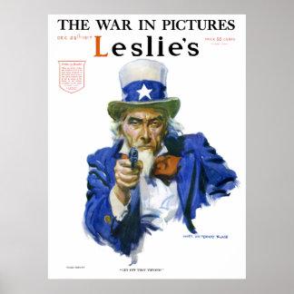 Art militaire patriotique vintage de couverture de affiche
