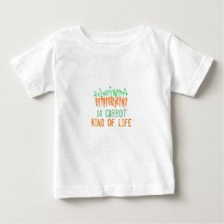 Art mit 14 Karotten des Lebent-stücks Baby T-shirt