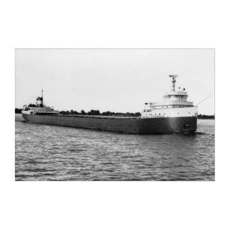 Art Mural En Acrylique Edmund Fitzgerald Great Lakes maritimes vintages