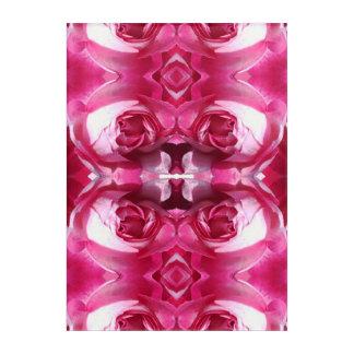 Art Mural En Acrylique Esprit du rose rouge 1A de plante