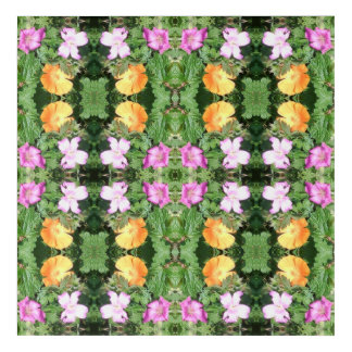 Art Mural En Acrylique La fleur tachettent la fractale 750D