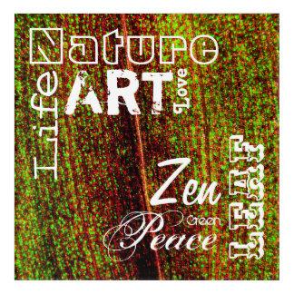 Art Mural En Acrylique La nature exprime le montage