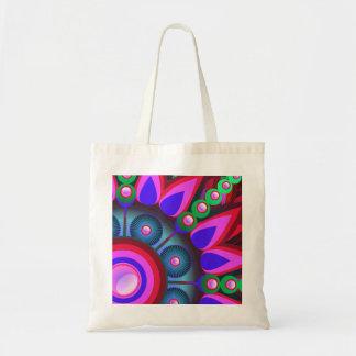 Art psychédélique de flower power sac en toile budget