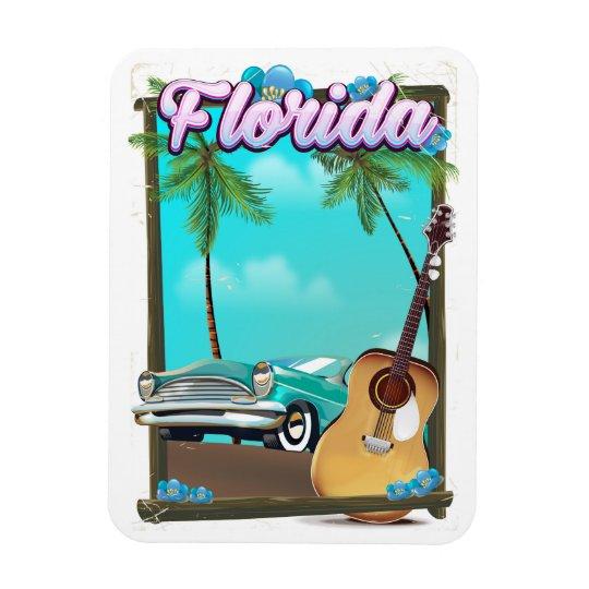 Art-Reiseplakat Floridas Retro Magnet