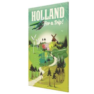 Art-Reiseplakat Hollands Vintages Leinwanddruck
