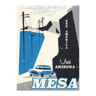 Art-Reiseplakat MESAs Arizona Vintages Leinwanddruck