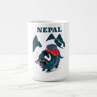 Art-Reiseplakat Nepal-Yak Vintages Kaffeetasse