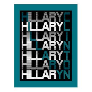 Art Stapel Hillary Clinton Postkarte