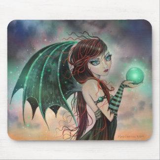 Art vert de fée de vampire d'imaginaire tapis de souris